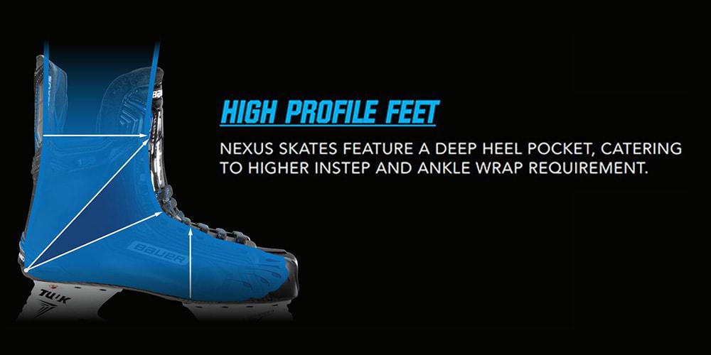 Vapor Hockey Skate Foot Profile