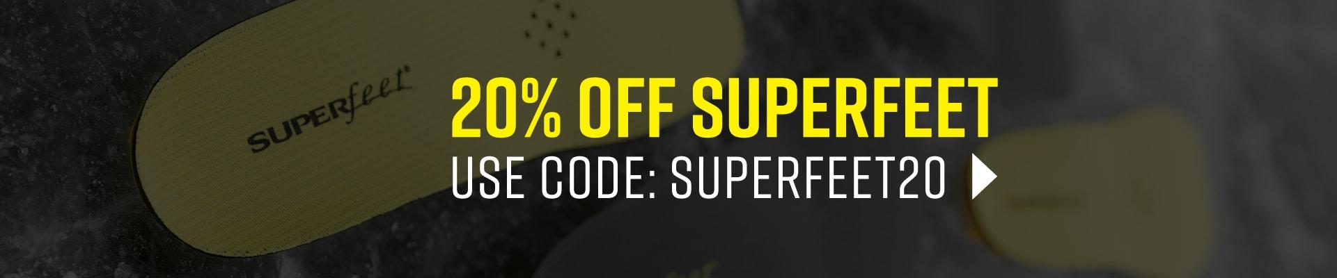 Shop 20% Off Superfeet Sale