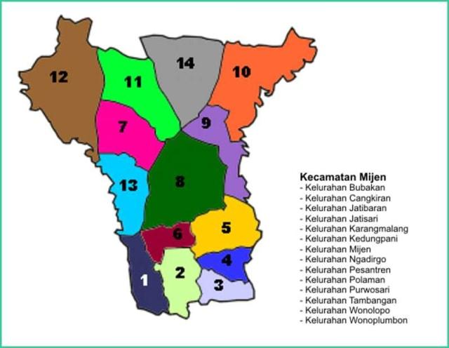 Peta Kecamatan Mijen Kota Semarang - Lokanesia