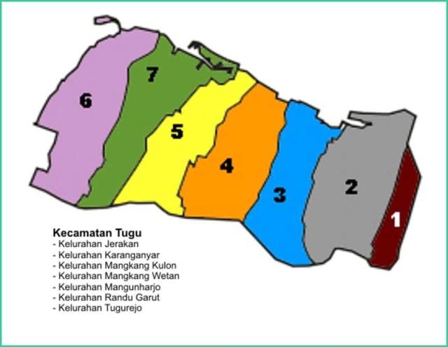 Peta Kecamatan Tugu Kota Semarang