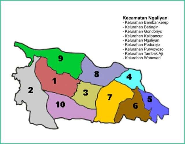 Peta Kecamatan Ngaliyan Kota Semarang - Lokanesia