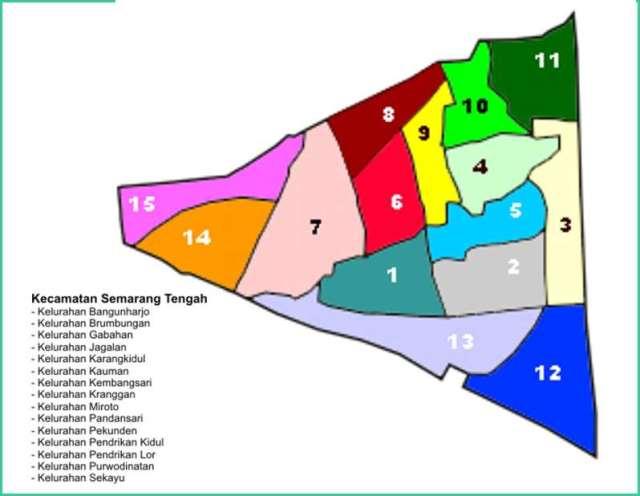 Peta Kecamatan Semarang Tengah - Lokanesia