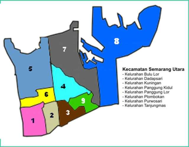 Peta Kecamatan Semarang Utara