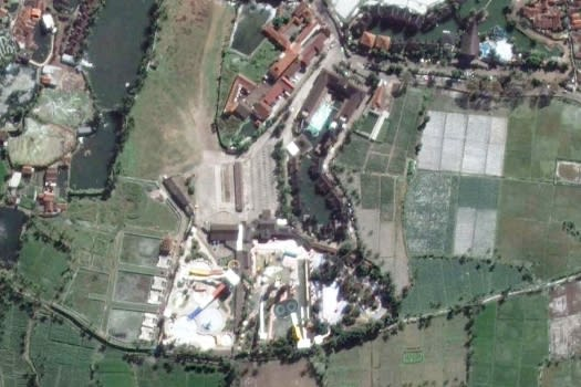 Taman Air Sabda Alam Garut via Google Earth