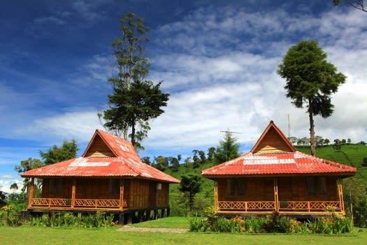 Rumah Kayu Kelapa Perkebunan Teh Rancabali