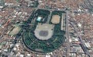 Taman Tegalega Bandung Tampak di Google Earth