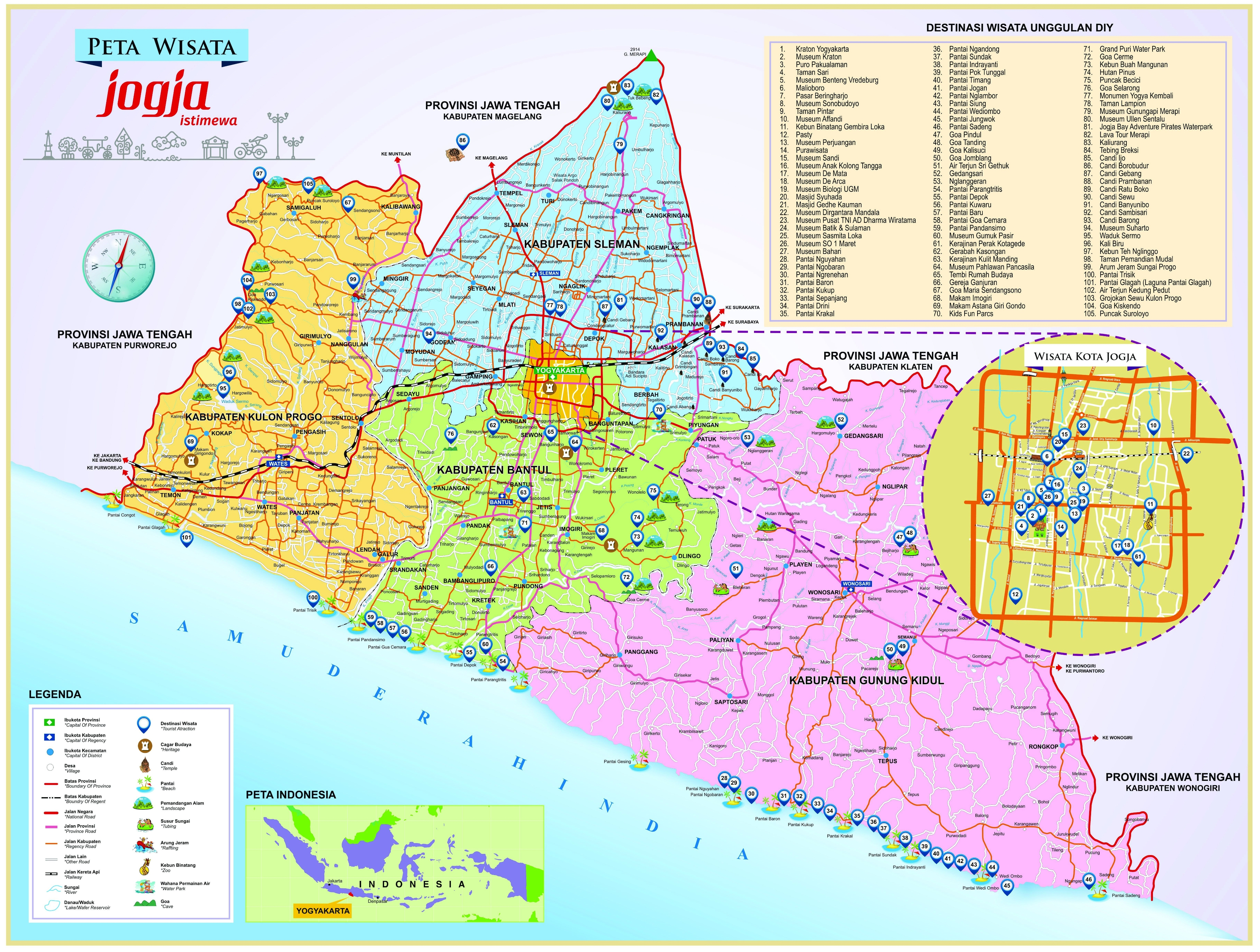 Peta Wisata Yogyakarta Lengkap