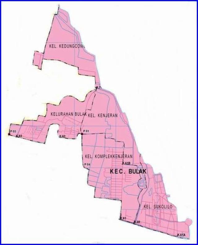 Peta Kecamatan Bulak Surabaya Utara