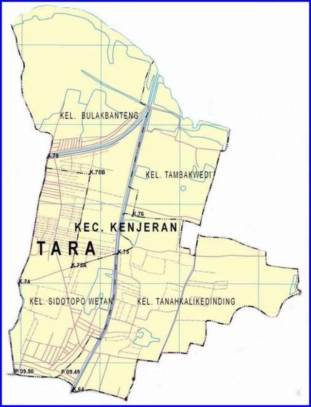 Peta Kecamatan Kenjeran Surabaya Utara