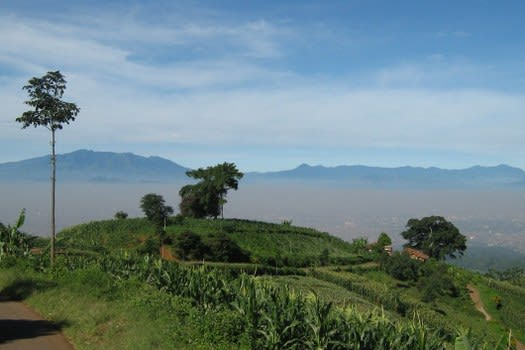 Pegunungan Manglayang dari Caringin Tilu