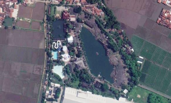Peta Tektona Waterpark, Kampung Batu Malakasari, Kab. Bandung via Google Earth