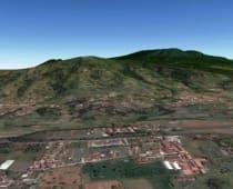 Gunung Putri Tampak dari Lembang via Google Earth