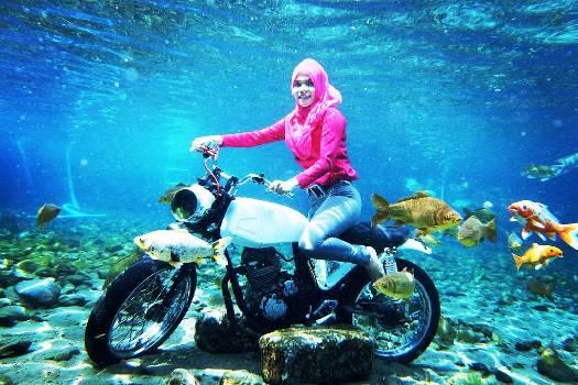 Fun Underwater Photography Umbul Ponggok