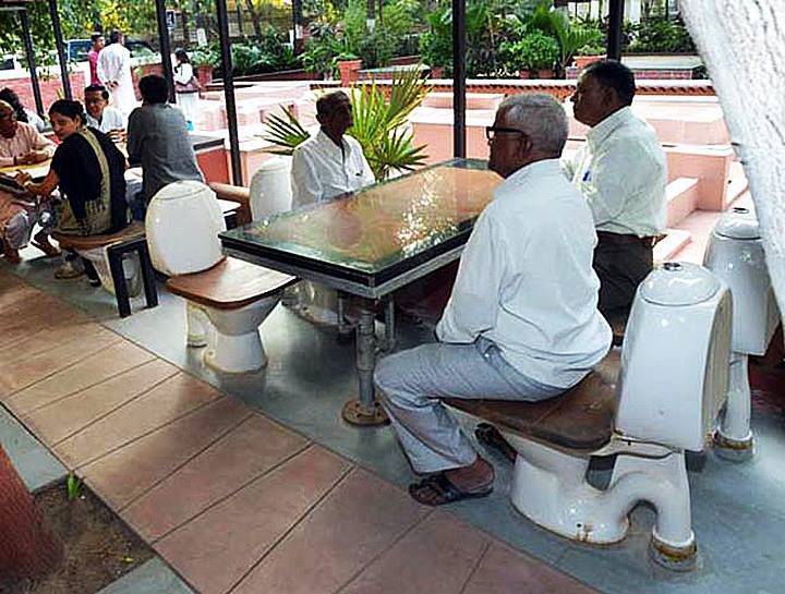 Ahmedabad Gets India's First Ever Toilet Cafe | So Delhi