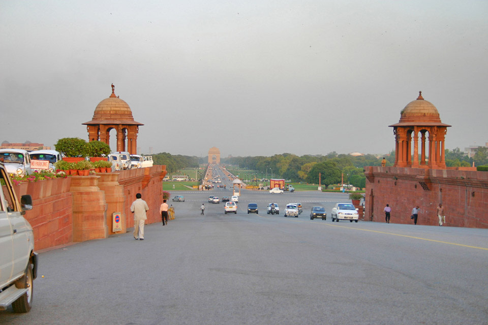 Green Country Auto >> Extending All The Way From India Gate To Vijay Chowk ...