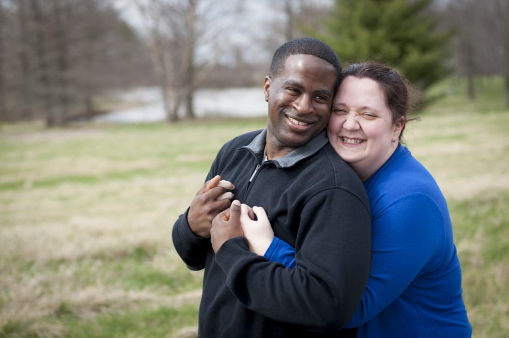 Multiracial couple near Scott Air Force Base in IL