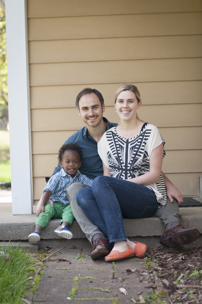 adoptive multiracial family photograph with little boy in South County, MO