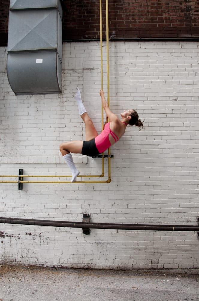 Active Professional Dancer in urban cityscape in St. Louis