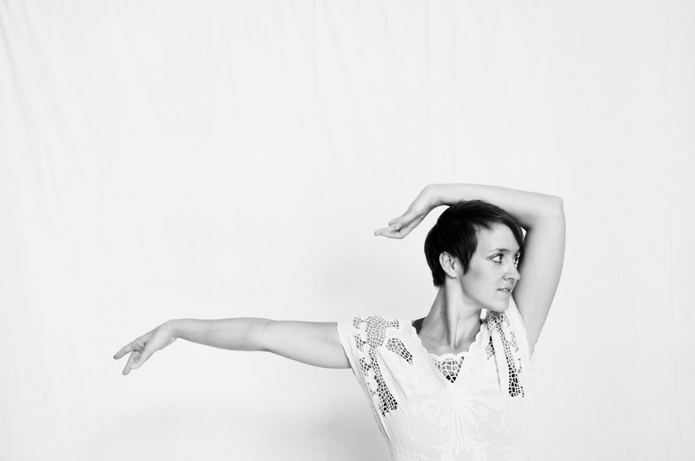 Professional Dancer in Studio in St. Louis in high key