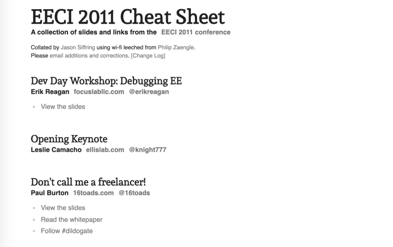 EECI 2011 cheat sheet