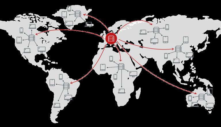 Global edge-node network