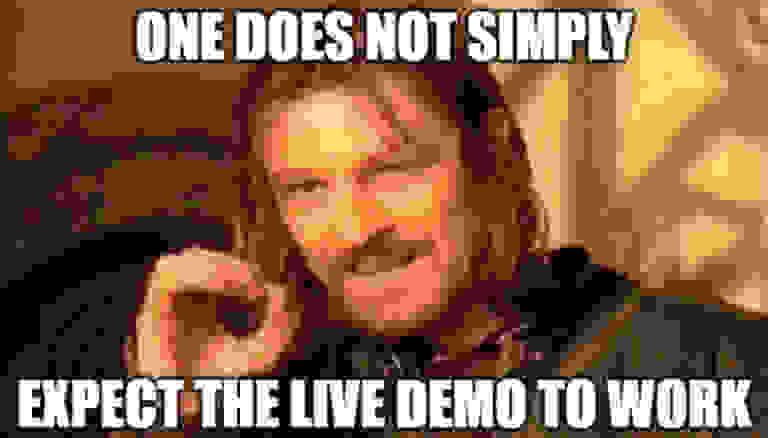 Live demo quote