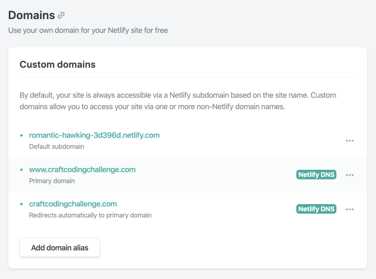 Netlify domains
