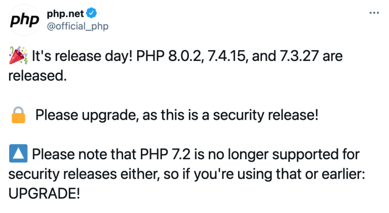 Php security release