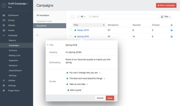 Campaign integration