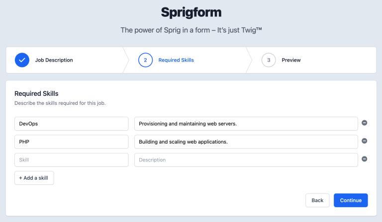 Sprigform