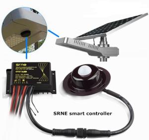 Контроллер для солнечного фонаря с датчиком движения