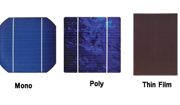 Солнечные элементы различных типов