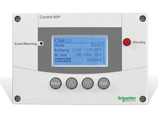 schneider electric conext system control panel scp