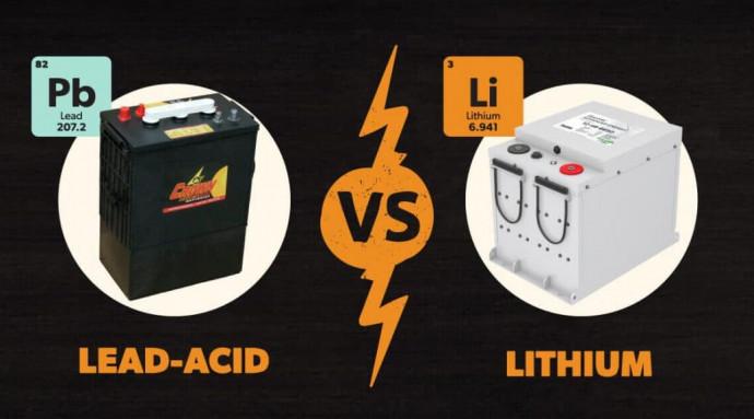 Сравнение литиевых и свинцовых аккумуляторов