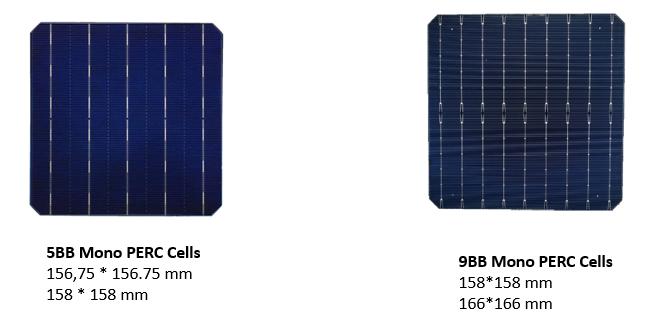 5BB vs 9BB cells dimension