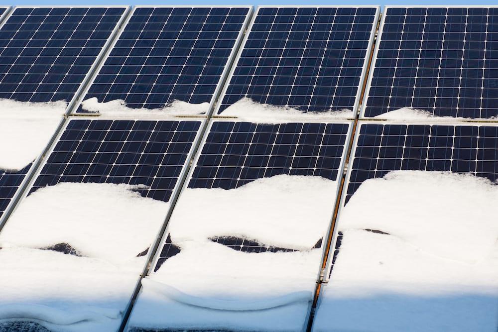Солнечные батареи зимой
