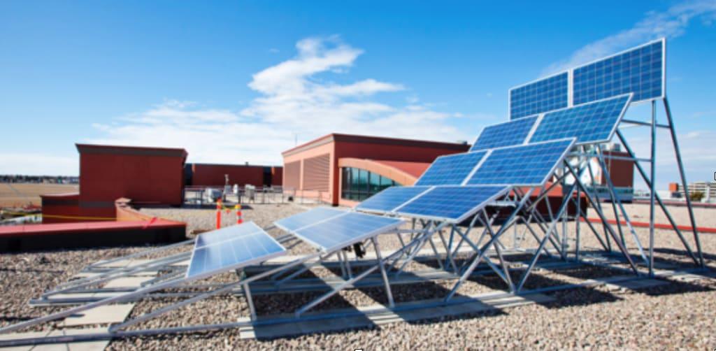 тестовая установка для разных углов наклона солнечной батареи