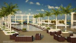 4 Midtown Miami - Pool Deck Rendering