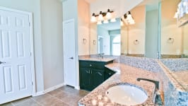 Beautiful Custom Built Home In Rockwall, Tx - Two Separate Sink Areas And Full Linen Closet In The Master Bathroom.