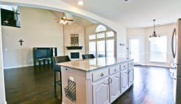 Beautiful Custom Built Home In Rockwall, Tx - The Kitchen Is Open To The Second Living Area.