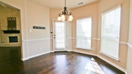 Beautiful Custom Built Home In Rockwall, Tx - Enjoy The Backyard From The Kitchen Nook.