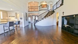 Beautiful Custom Built Home In Rockwall, Tx - Spiral Staircase, Rich Hardwoods, Arches And Openness.