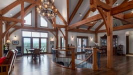 370129 80 St W, Rural Foothills M.D. - Notice The Beautiful Timber Beam Construction