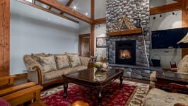 370129 80 St W, Rural Foothills M.D. - Cured Stone Wood Burning Fireplace