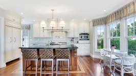 Serenity On The Sound - Gorgeous Hardwood Floors With Border Inlay.