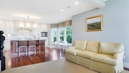 Serenity On The Sound - Family Room Is Off The Kitchen.