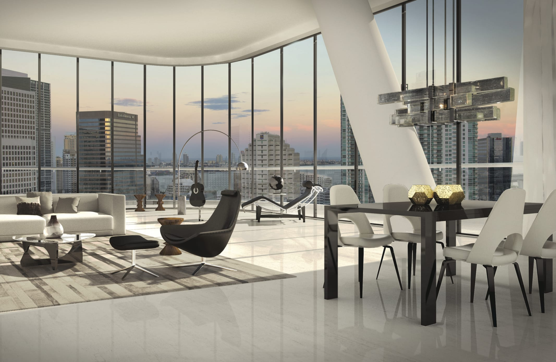 Brickell Heights - Living Area And View