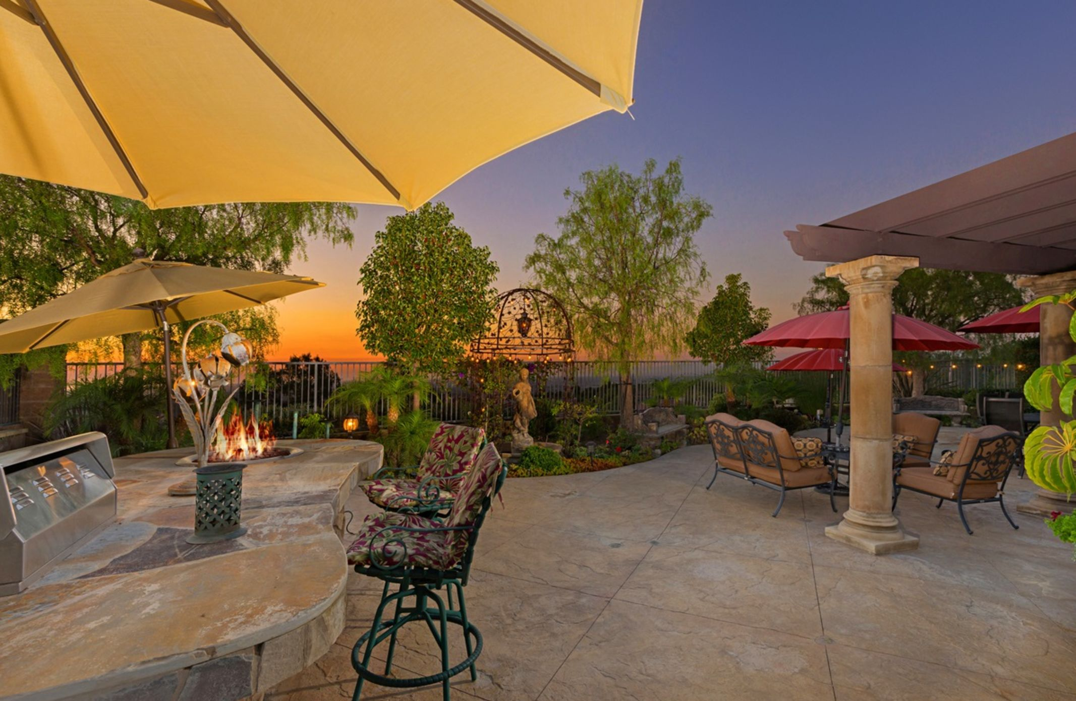 49 Hidden Trail  Prestigious Turtle Ridge Irvine With Forever Views! - Backyard Evening Views