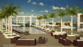4 Midtown Miami - Pool Deck Rendering