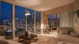 Opera Tower - Living Area At Night